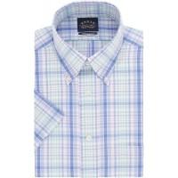 Eagle Men's Short Sleeve Dress Shirt Regular Fit Non Iron Stretch Collar Check at  Men's Clothing store