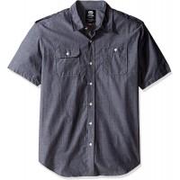 Ecko UNLTD Men's Solid City Short Sleeve Woven Shirt