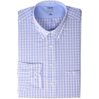 IZOD Men's BIG FIT Dress Shirt Stretch Cool FX Cooling Collar Check Big and Tall at  Men's Clothing store