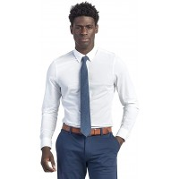 Rhone Men's Commuter Athletic Slim Fit Long Sleeve Dress Shirt Button Down Four-Way Stretch Iron-Free Wrinkle Release at  Men's Clothing store