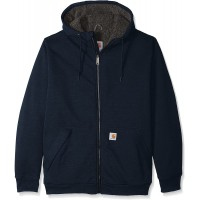 Carhartt Men's Big & Tall Rd Rockland Sherpa Lined Hooded Sweatshirt at  Men's Clothing store