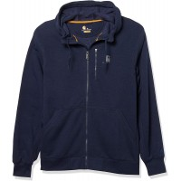 Carhartt Men's Force Relaxed Fit Midweight Full-Zip Sweatshirt Navy Heather Large at  Men's Clothing store