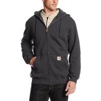 Carhartt Men's Midweight Hooded Zip-Front Sweatshirt at  Men's Clothing store