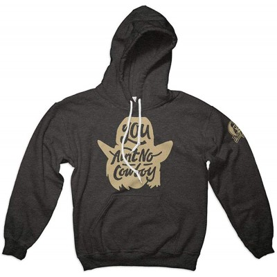 Dale Brisby Men's Charcoal Grey You Ain't No Cowboy Hoodie m at Men's Clothing store