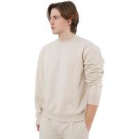 Eoselio Man Leisure Loungewear Comfy Soft Fleece Long Sleeve Crewneck Sweatshirt at  Men's Clothing store