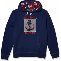 Nautica Jeans Co. Men's Graphic Print Hoodie at  Men's Clothing store