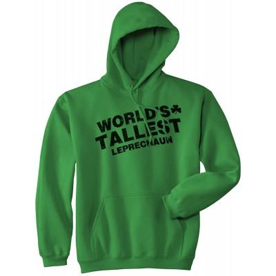 Worlds Tallest Leprechaun Hoodie Funny Sarcastic Saint Patricks Day SweatShirt at  Men's Clothing store