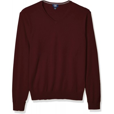 Cutter & Buck Men's Cotton-Rich Classic Lakemont Anti-Pilling V-Neck Sweater at  Men's Clothing store