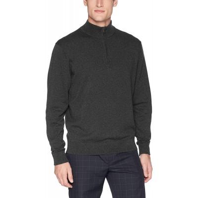 Cutter & Buck Men's Machine Washable Lakemont Half-Zip Sweater at  Men's Clothing store