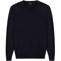 Krumba Men's Cotton Oversized V-Neck Classical Pull-On Sweater at  Men's Clothing store