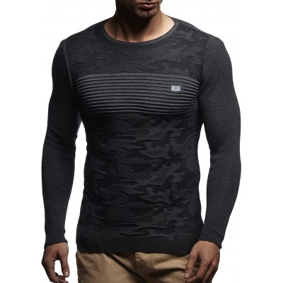 Leif Nelson LN1645 Men's Knit Pullover at Men's Clothing store