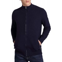 Kenny & Cat Men's Casual Knitted Full-Zip Long Sleeve Cardigan Sweater with 2 Front Pockets at  Men's Clothing store