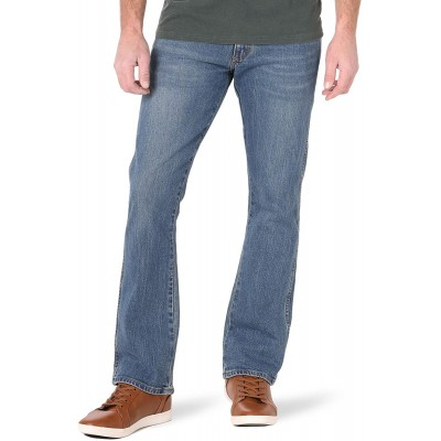 Wrangler Men's Texas Rooted Slim Bootcut Jean at  Men's Clothing store