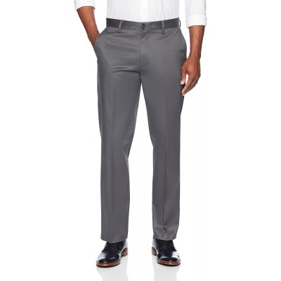 Brand - Buttoned Down Men's Relaxed Fit Flat Front Non-Iron Dress Chino Pant Dark Grey 36W x 30L