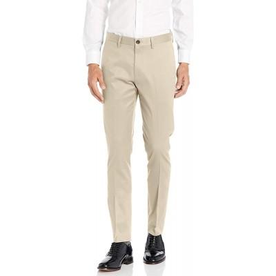 Brand - Buttoned Down Men's Skinny Fit Non-Iron Dress Chino Pant Khaki 28W x 28L