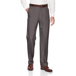 Haggar Men's Premium Comfort Classic Fit Pleat Expandable Waist Pant at  Men's Clothing store
