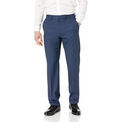 Haggar Men's Travel Performance Solid Gab Tailored Fit Suit Separate Pant at Men's Clothing store