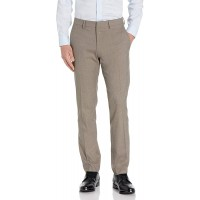 Kenneth Cole REACTION Men's Stretch Heather Herringbone Slim Fit Flat Front Flex Waistband Dress Pant at  Men's Clothing store