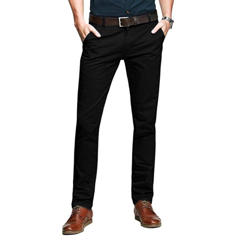 OCHENTA Men's Tapered Flat Front Casual Dress Pants at Men's Clothing store