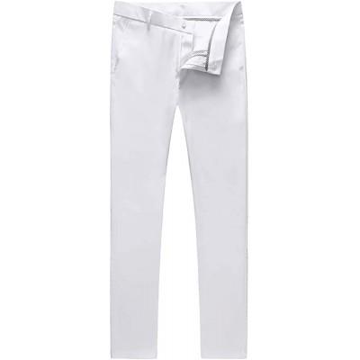 UNINUKOO Mens Tuxedo Slim Fit Business Wedding Suit Pants