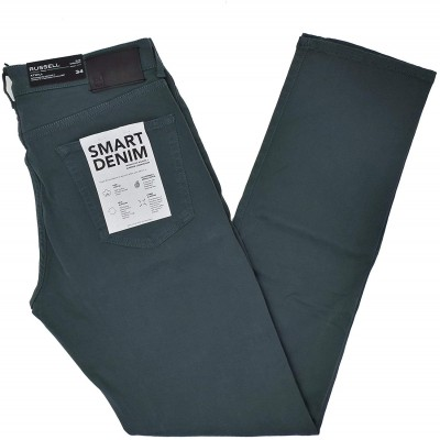 DL1961 Men's Russell Slim Straight Sateen Pant in Gray Pool 34 at Men's Clothing store