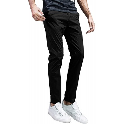 Match Men's Slim Tapered Stretchy Casual Pants #8105 at Men's Clothing store