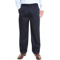 Pembrook Men's Full Elastic Waist Twill Casual Pant at  Men's Clothing store