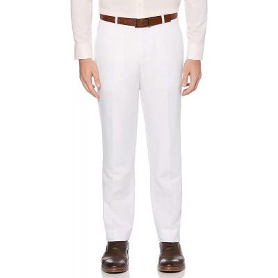 Perry Ellis Men's Portfolio Modern Fit Linen Blend Pants at Men's Clothing store
