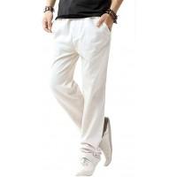 SIR7 Men's Linen Casual Lightweight Drawstrintg Elastic Waist Summer Beach Pants at  Men's Clothing store