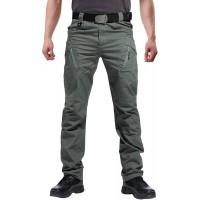 Susclude Men's Outdoor Cargo Work Trousers Military Tactical Pants Ripstop Assault Combat Trousers Hiking Pants Men