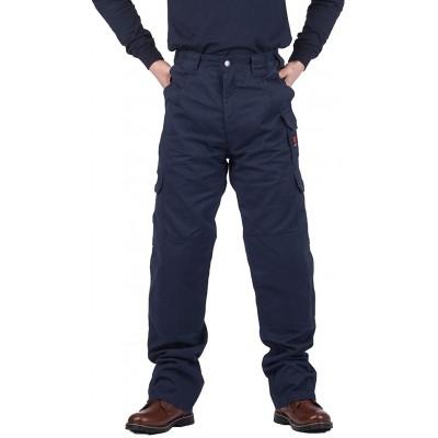 TICOMELA FR Pants for Men Flame Resistant Cargo Pants Lightweight 100% Cotton NFPA2112 7.5oz Elastic Waist Pants