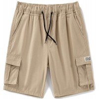 LTIFONE Men's Cargo Short Casual Elastic Premium Waist Relaxed Outdoor Summer Shorts with Pockets |