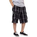 Shaka Wear Men's Cargo Shorts – Casual Plaid Loose Relaxed Loose Fit Elastic Waist Multi Pocket Pants Regular Big S~5XL |