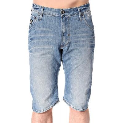 G-Star Raw Men's Arc 3D Loose Tapered Bermuda In Retton Denim Light Aged at Men's Clothing store