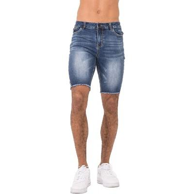Heyfanee Denim Shorts for Men Fashion Shorts Jeans Slim Fit High Waist Denim Short Blue 36