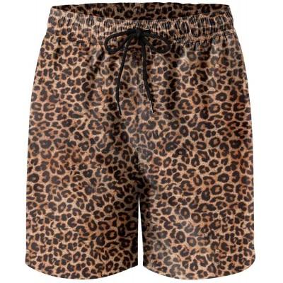 IORTY RTTY Mens Swim Trunks Quick Dry Swim Shorts with Mesh Lining Funny Leopard Print Swimwear Bathing Suits |