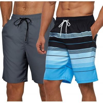 SILKWORLD Mens Swim Shorts Quick Dry Trunks Sports Swimwear with Mesh Lining