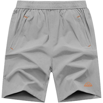TBMPOY Men's Outdoor Sports Quick Dry Gym Running Shorts Zipper Pockets