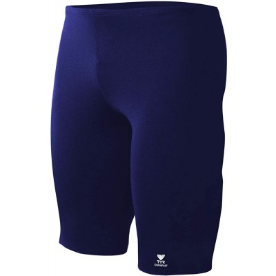 TYR SDUS7A40134 Durafast Elite Solid Mens Jammer Navy 34 Athletic Swim Jammers