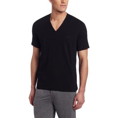 BOSS HUGO BOSS Men's Cotton Stretch V-Neck Shirt at Men's Clothing store Pajama Tops