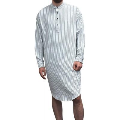 Lee Valley Men's Genuine Irish Cotton Flannel Nightshirt at Men's Clothing store