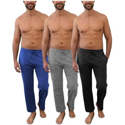 Andrew Scott Men's Pack of 3 Soft & Light 100% Cotton Drawstring Yoga Lounge & Sleep Pant at  Men's Clothing store