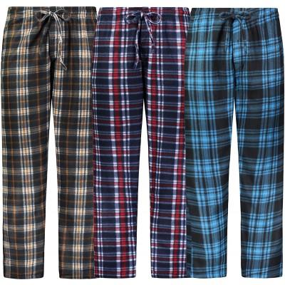 Bill Baileys Mens Pajama Pants 3 Pack Fleece Lounge Pants Sleep Pants Sleepwear with Pockets at Men's Clothing store