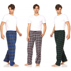 DARESAY Men's Cotton Super-Soft Flannel Plaid Pajama Pants Lounge Bottoms with Pockets at  Men's Clothing store