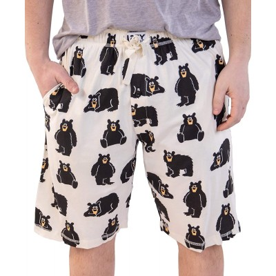 Lazy One Pajama Shorts for Men Men's Separate Bottoms Cotton Loungewear at Men's Clothing store