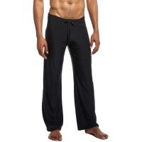 Lu's Chic Men's Loose Sleep Pants Long Loungewear Casual Drawstring Classic Pj Pajama Bottoms at  Men's Clothing store
