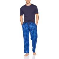 Varsity Men's Knit Fleece Pant and Jersey Top Pajama Set at  Men's Clothing store