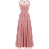 Dressystar Women's Lace Chiffon Bridesmaid Dress Sleeveless Formal Wedding Party Dress