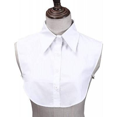Juland Lady's Fake Collar Half Shirt Blouse Detachable False Collar OL Joker Shirt Decorative Collar Dickey Collar Cuff Cotton Choker Tie False Lapel Point– White at  Women's Clothing store