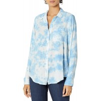 Lucky Brand Women's Long Sleeve Button Up Tie Dye Classic Shirt at  Women's Clothing store